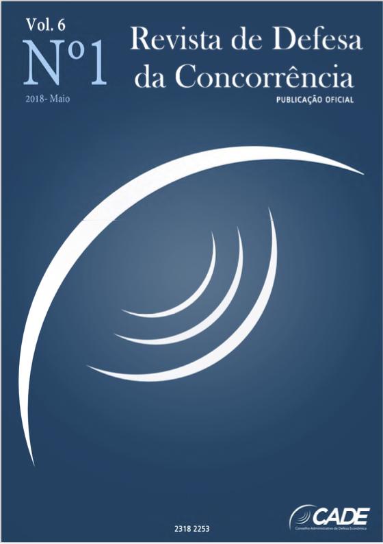 Visualizar v. 6 n. 1 (2018): Revista de Defesa da Concorrência